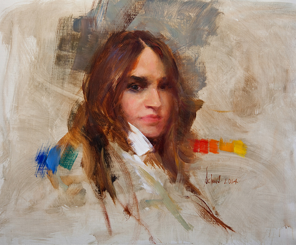 Richard Schmid Paints Michelle Dunaway