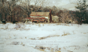 Click Here to view larger image of Farmhouse by Richard Schmid