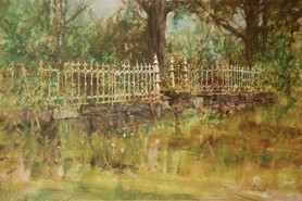 Iron Fence by Richard Schmid