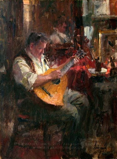 Click Here to view larger image of Guitarist by Richard Schmid