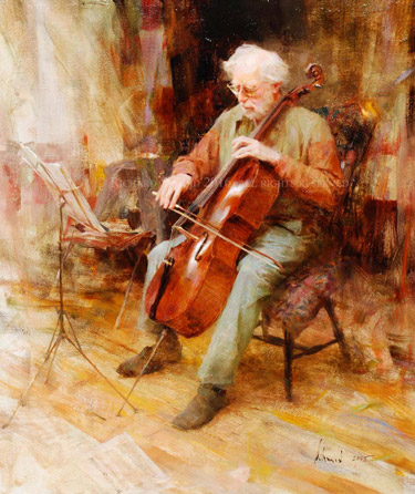 Click Here to view larger image of Cellist by Richard Schmid